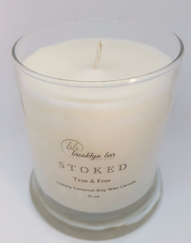 Signature STOKED Candle, 11 oz - True & Free (unscented)