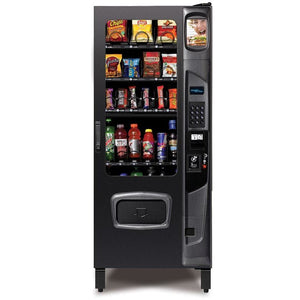 Compact Combo Vending Machine 25 Select Dual Zone Chill Center Black