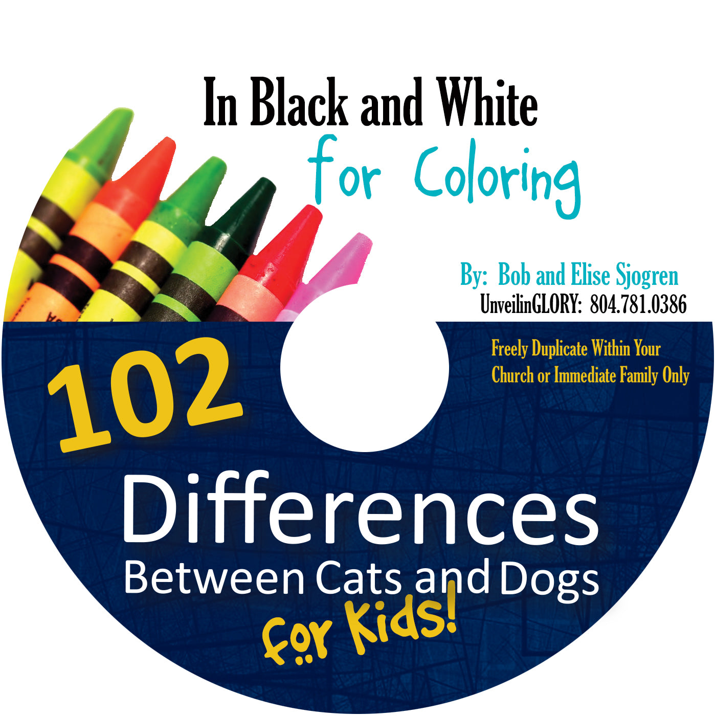 102 Differences Between Cats and Dogs for Kids:  B&W Coloring Pages - CD