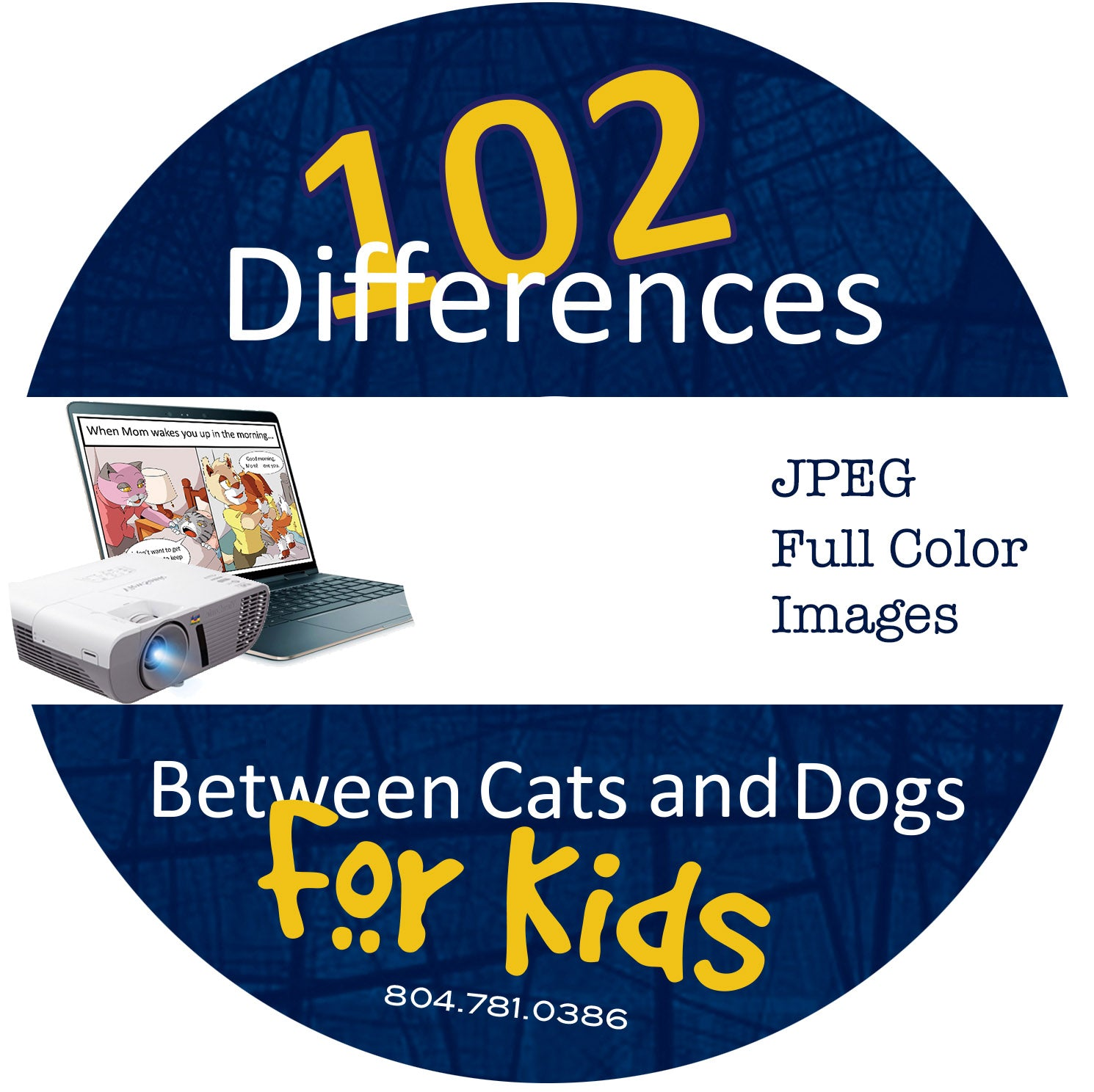 102 Differences Between Cats and Dogs:  Color Cartoons - CD