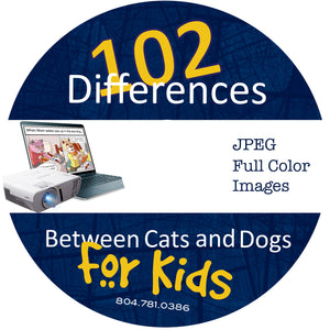102 Differences Between Cats and Dogs:  Color Cartoons - Download