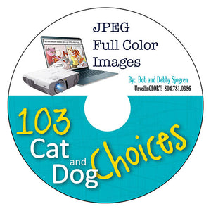 103 Cat and Dog Choices:  Color Cartoons - Download
