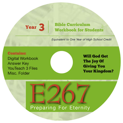 Homeschool Curriculum: High School Year 3-E267 Workbook on CD