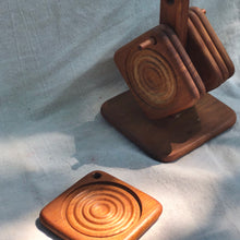 Teakwood Coaster Set II