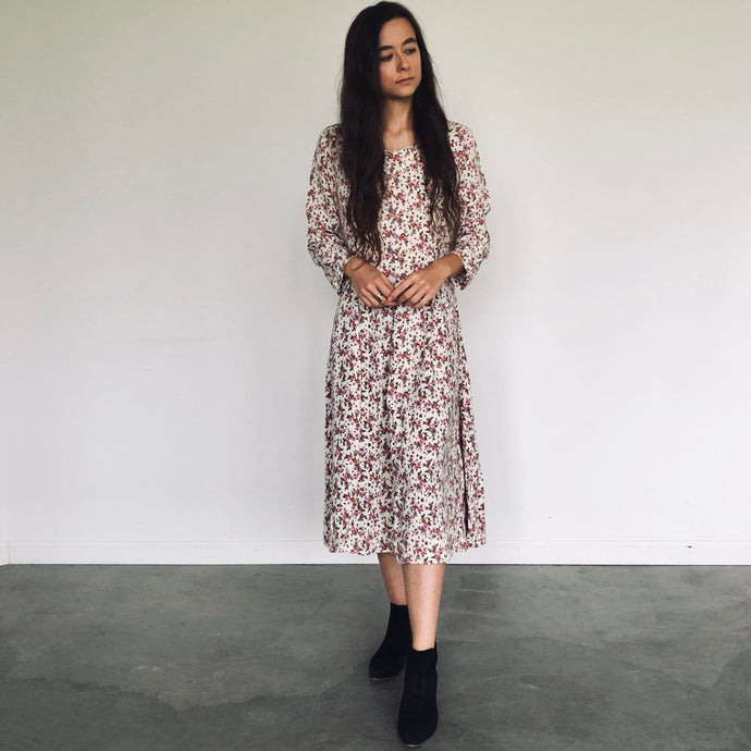 Autumnal Floral Dress