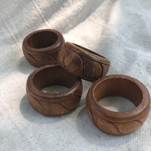 Teakwood Napkin Rings