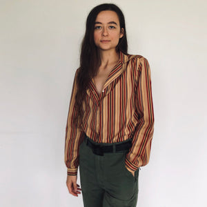 Fall Striped Blouse