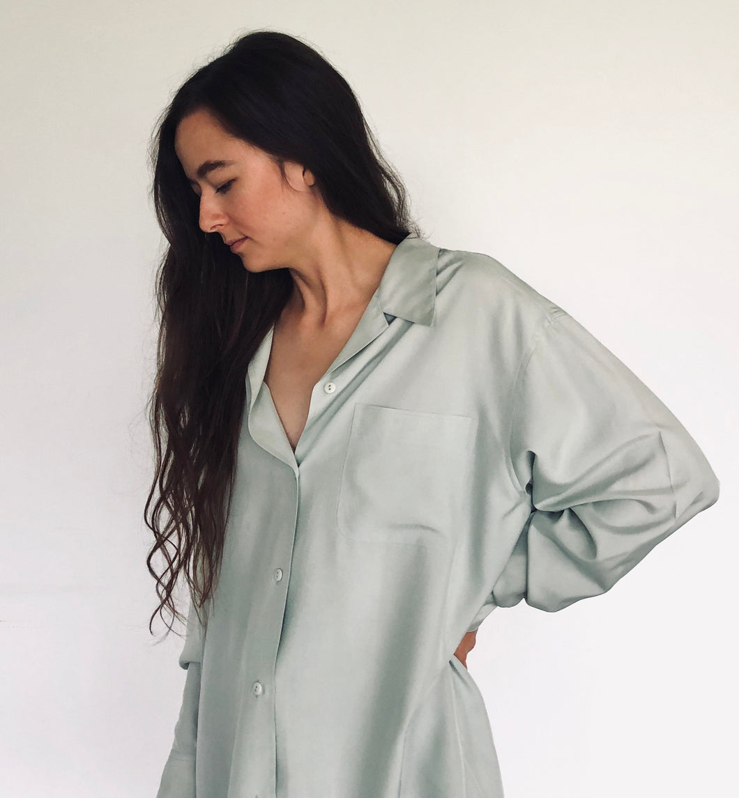 Silk Mint Blouse