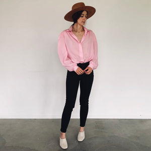 Balloon Sleeve Bubblegum Blouse