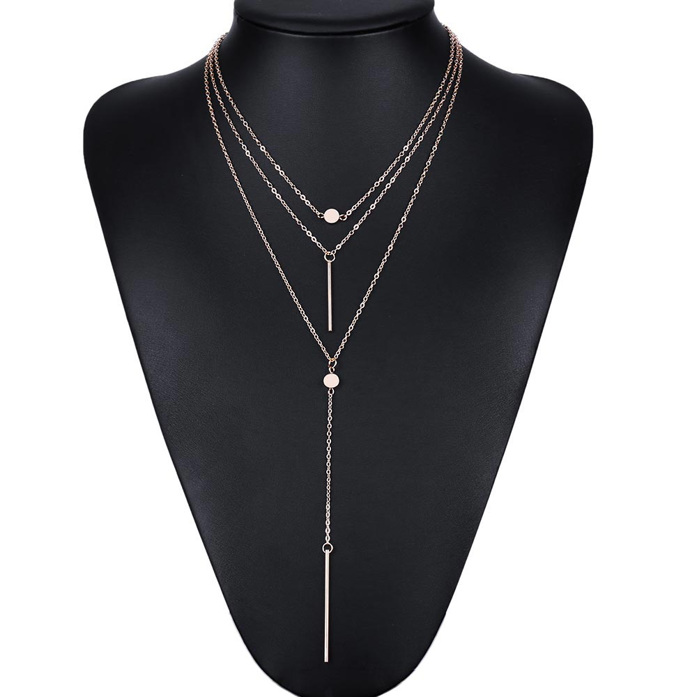 FREE - Ladies Sophisticated 3 Layer Necklace with Charms and Tassels - just pay shipping!