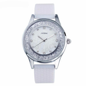 Women's Fashion Wrist Watch with Simulated Diamonds and Quartz Movement