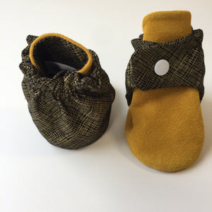 Black & Gold Baby Booties