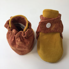 Brown Swirls and Tan Baby Booties