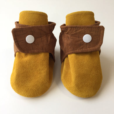 Classic Brown and Tan Baby Booties