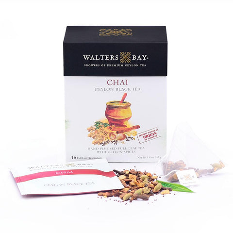 Chai Ceylon Black Tea Full Leaf Tea Enveloped Tea Bags Envelope Main