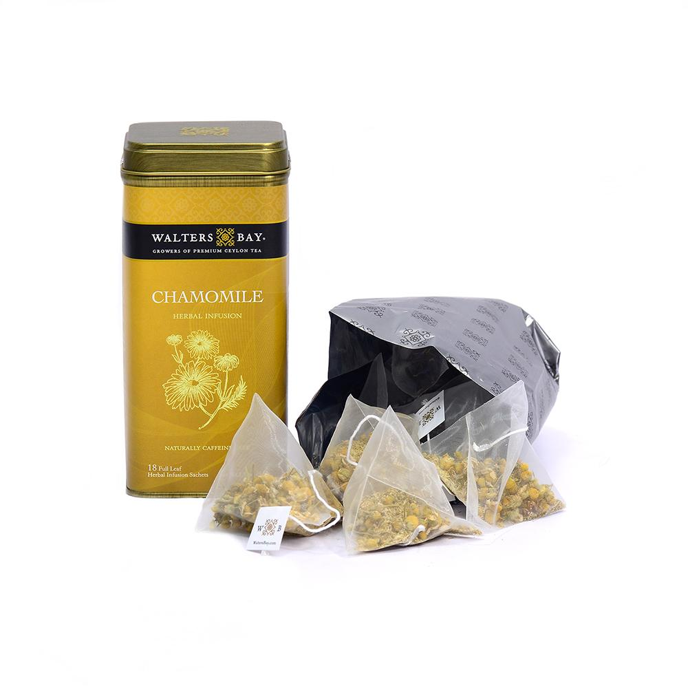 Chamomile Herbal Infusion Full Leaf Tea Bags in Canister - Walters Bay