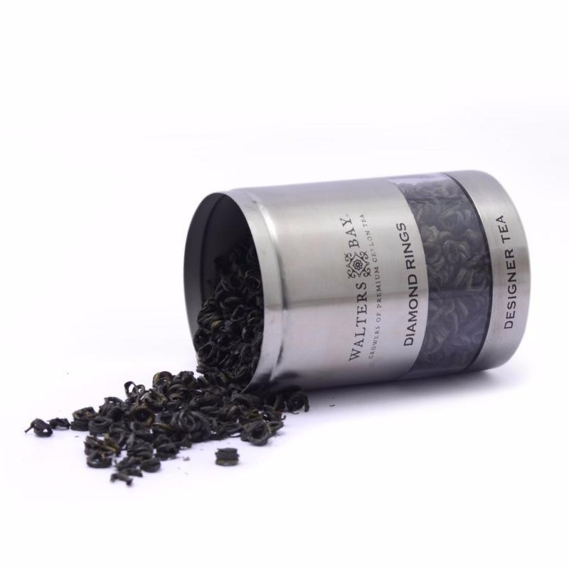 Diamond Rings Ceylon Black Tea Canister Open