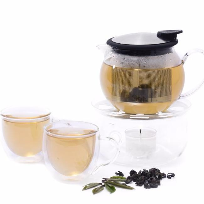 Diamond Rings Ceylon Black Tea Tea Pot Brew with Cups