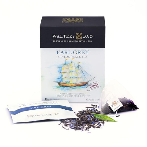 Earl Grey Ceylon Black Tea Full Leaf Tea Enveloped Tea Bags - Walters Bay