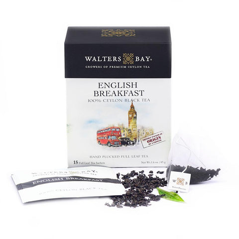 English Breakfast Ceylon Black Tea Full Leaf Tea Enveloped Tea Bags Envelope Main