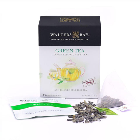 Green Tea Ceylon Green Tea Full Leaf Tea Enveloped Tea Bags Envelope Main