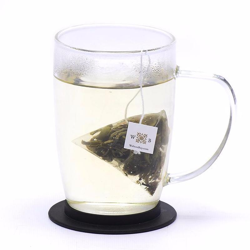 Lavender White Ceylon White Tea Full Leaf Tea Bags in Canister Cup Brew with Tea Bag