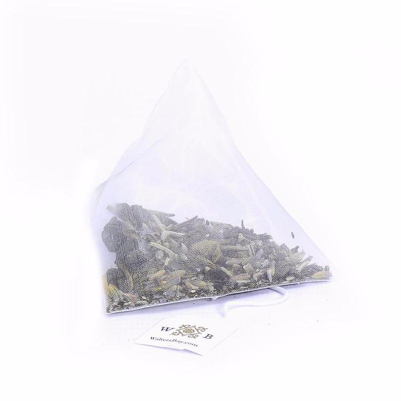 Lavender White Ceylon White Tea Full Leaf Tea Bags in Canister Tea Bag