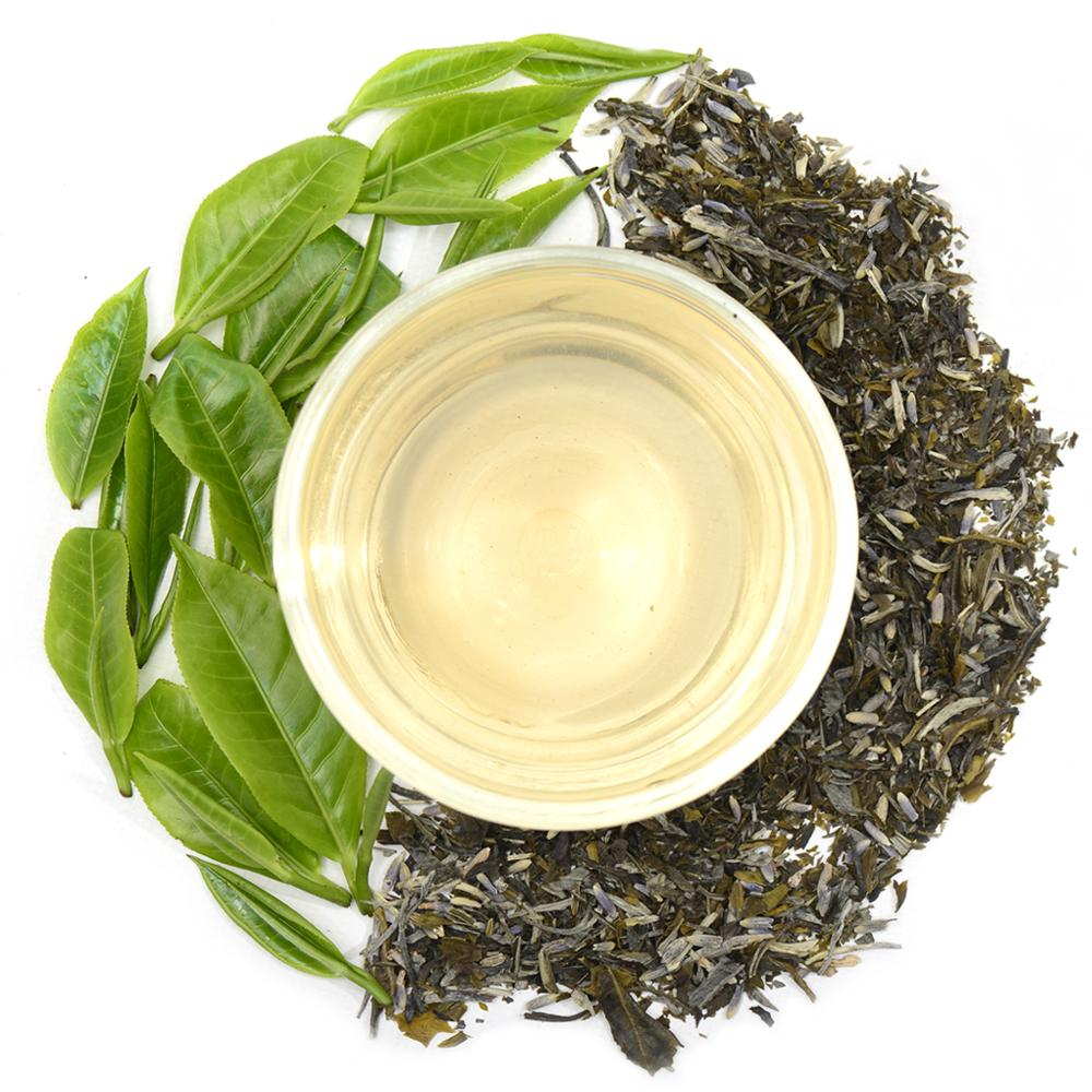 Lavender White Ceylon White Tea Full Leaf Tea Bags in Canister Combo