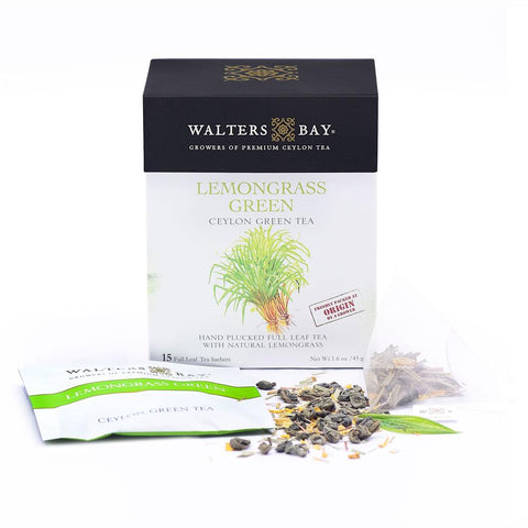 Lemongrass Green Ceylon Green Tea Full Leaf Tea Enveloped Tea Bags Envelope Main