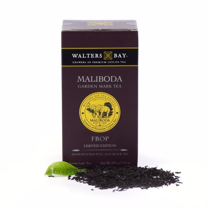 Maliboda FBOP Ceylon Black Tea Loose Leaf Package Closed with Tea