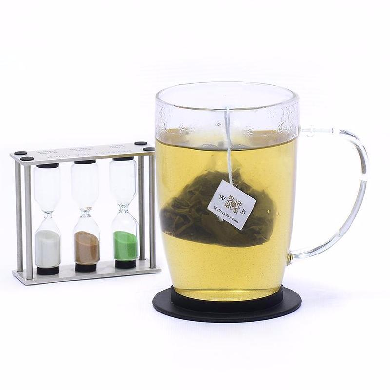 Mango Passion Fruit Ceylon Green Tea Full Leaf Tea Bags in Canister Cup Brew with Tea Bag