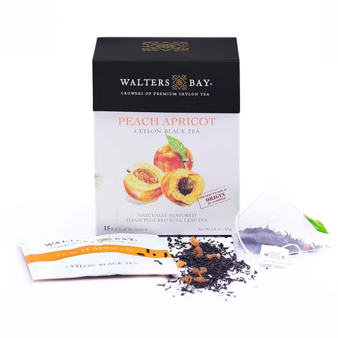 Peach Apricot Ceylon Black Tea Full Leaf Tea Enveloped Tea Bags Envelope Main