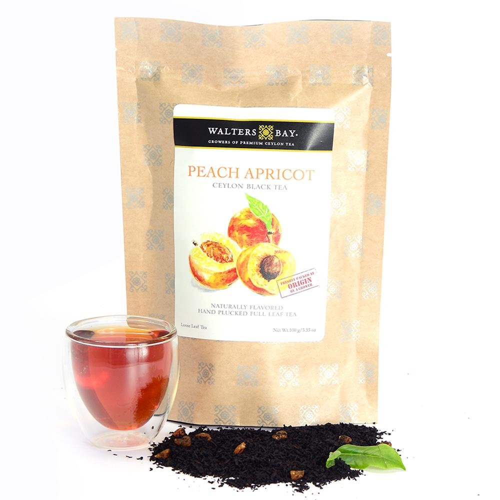 Peach Apricot Ceylon Black Tea Full Leaf Tea Loose Leaf - Walters Bay