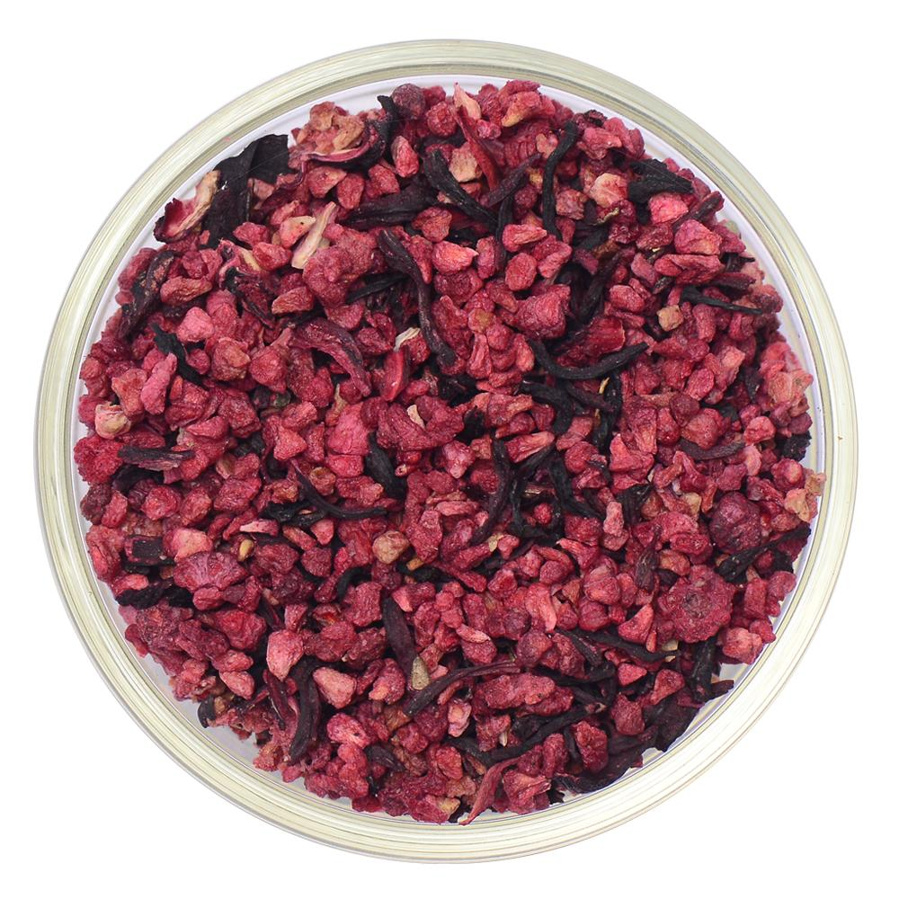 Raspberry Hibiscus Herbal Infusion Full Leaf Tea Enveloped Tea Bags