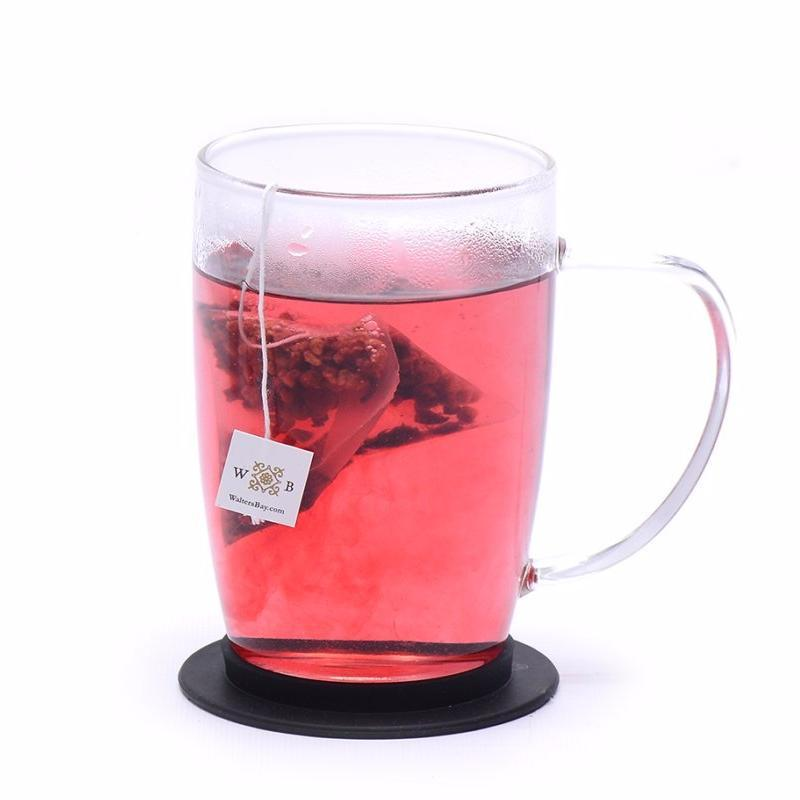 Raspberry Hibiscus Herbal Infusion Full Leaf Tea Enveloped Tea Bags Cup Brew with Tea Bag