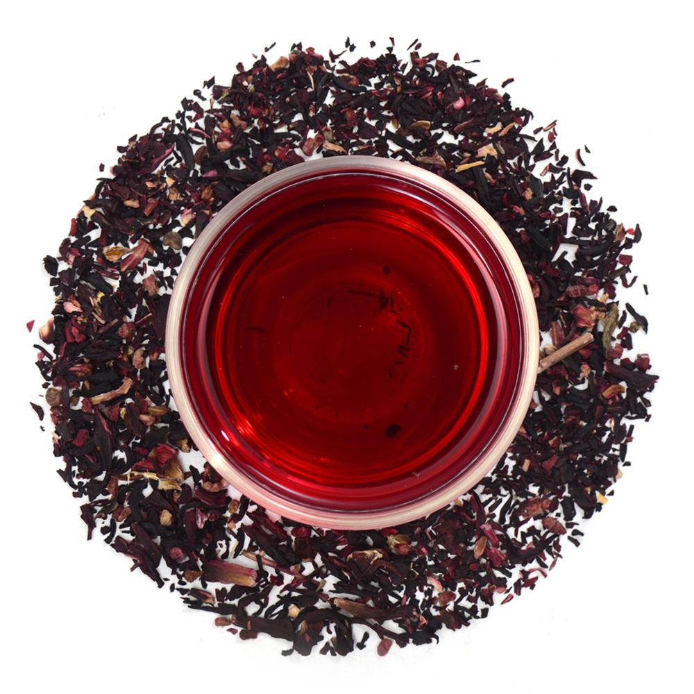 Raspberry Hibiscus Herbal Infusion Full Leaf Tea Enveloped Tea Bags Combo