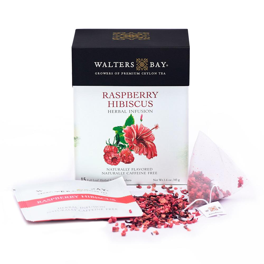Raspberry Hibiscus Herbal Infusion Full Leaf Tea Enveloped Tea Bags Envelope Main