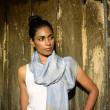 White Tea Lavender Silk Scarf - Walters Bay
