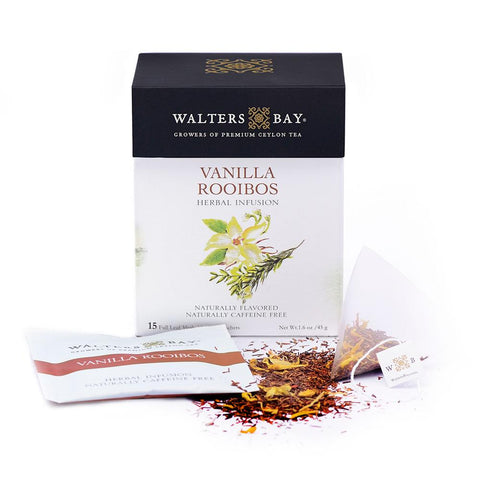 Vanilla Rooibos Herbal Infusion Full Leaf Tea Enveloped Tea Bags Envelope Main