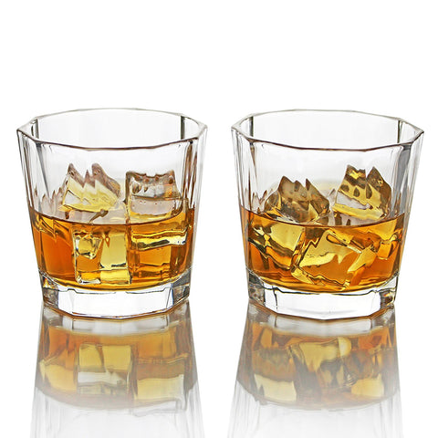 Deluxe Set Of Four 10 Oz/310 ml Drinking Glasses for Whiskey, Bourbon, and Scotch