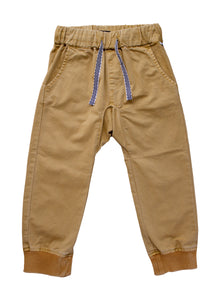 4yrs, 8yrs Pants - Cotton Twill (Available in Golden and Washed Black)