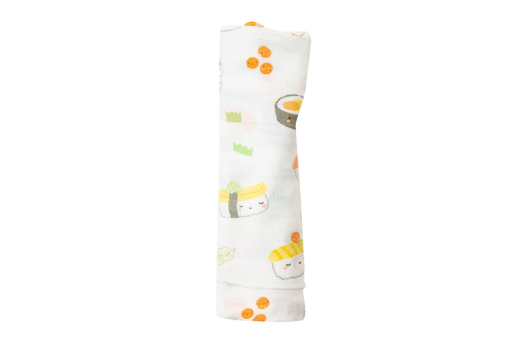 Bamboo Cotton blend Blanket - Sushi