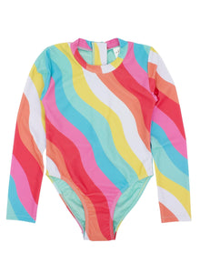 Wave Chaser Surf Suit in Rainbow Stripe
