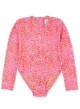 Wave Chaser Surf Suit in Coral Zebra