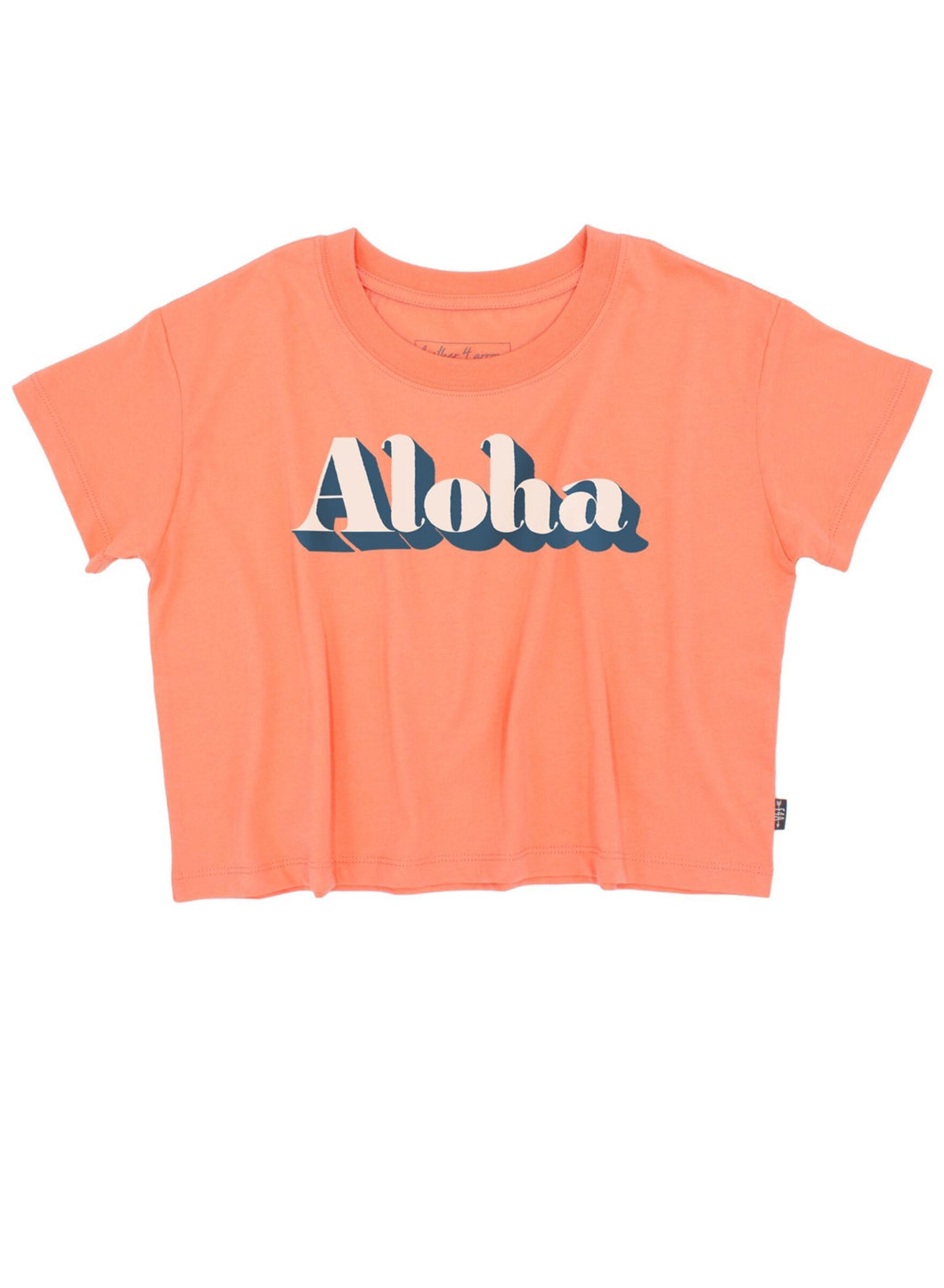 Aloha Crop Tee in Coral Crush