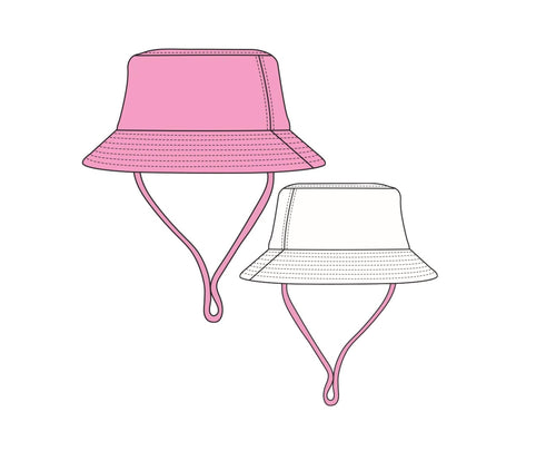 Suns Out Reversible Bucket Hat in Prism Pink