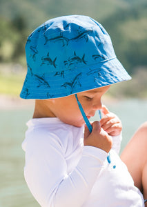 Suns Out Reversible Bucket Hat in Mediterranean Blue
