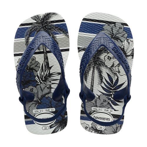 Baby Boys Chic Sandal - White / Navy Blue