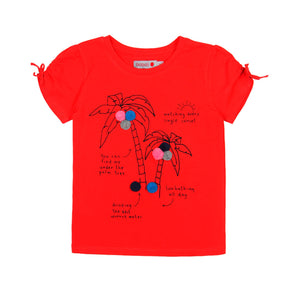 6yrs - Cherry Palms Girl Tee