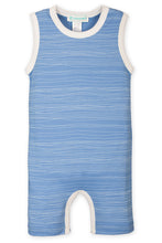 Tank Romper - Stripe on Cornflower Blue